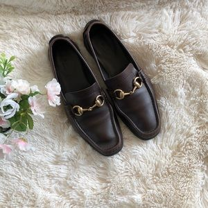 Gucci Leather Loafers Flat Shoes